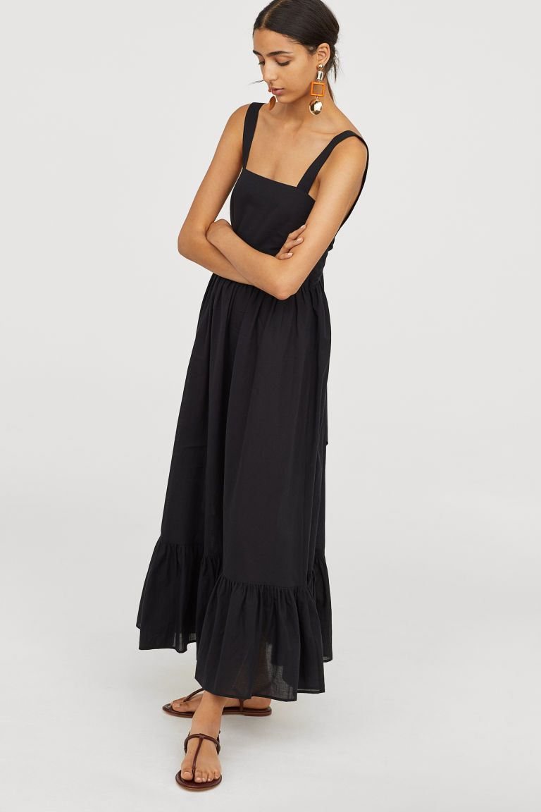 58238d9ae17 Cotton maxi dress - Black - Ladies