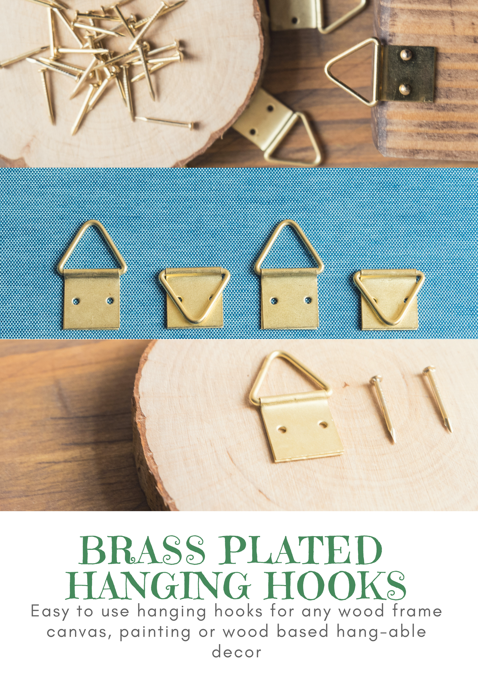 Easy To Use Hanging Hooks For Any Wood Frame Canvas Painting Or