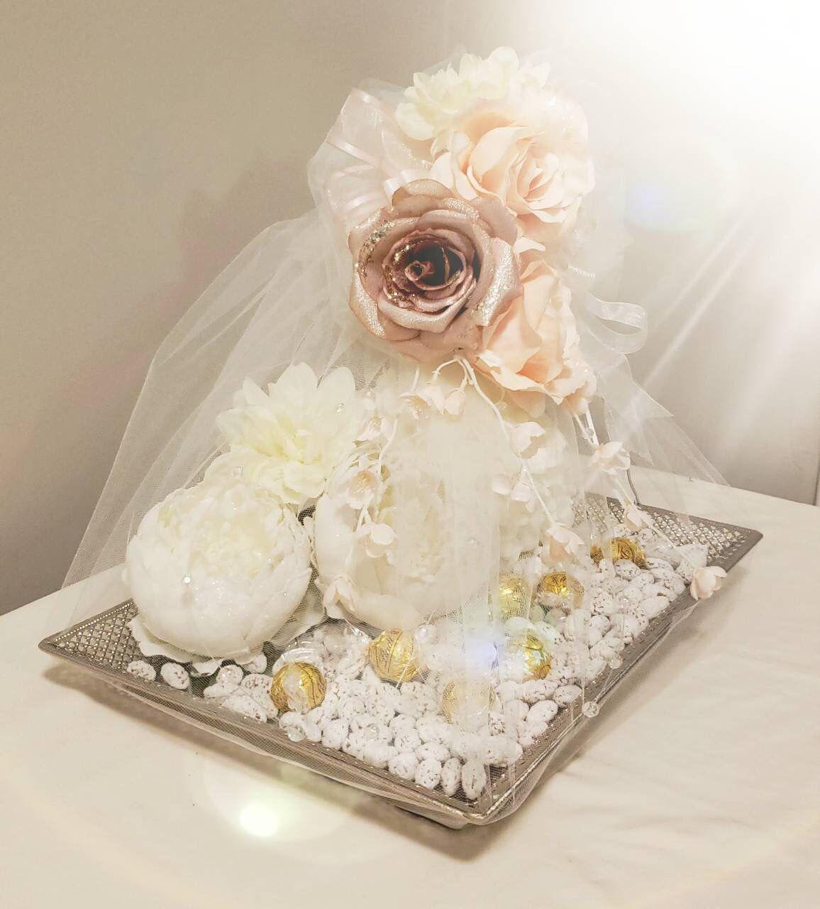 Image result for white flower engagement tray design,nari