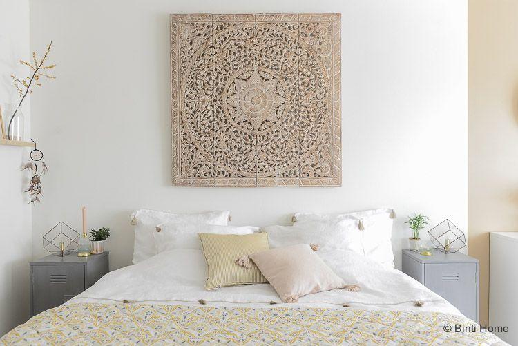 Houten Wandpanelen Slaapkamer : Wandpaneel van houtsnijwerk uit de collectie van simply pure
