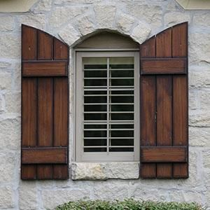 Benefits of buying exterior wood shutters | Drapery Room Ideas ...