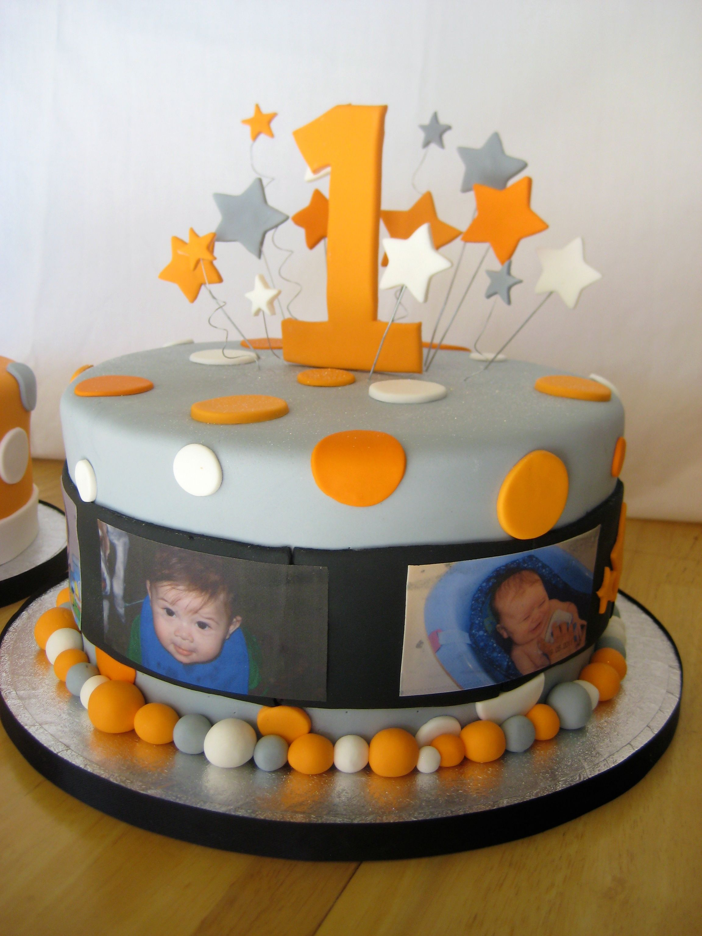 One Year Old in a FLASH cake Stars Edible Images and More
