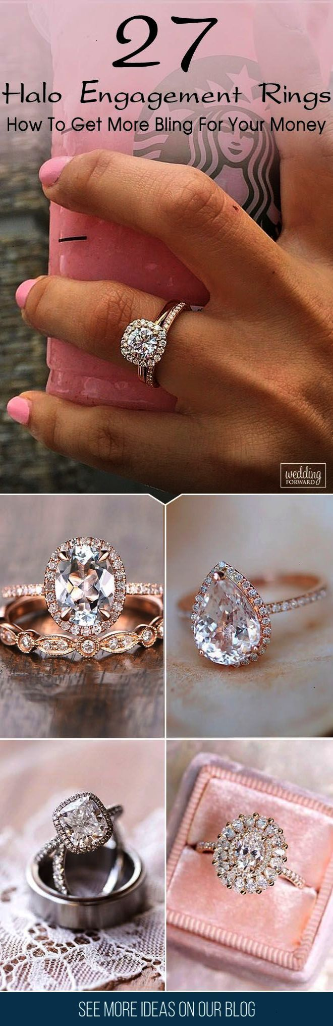 halo engagement rings or how to get more bling for your money