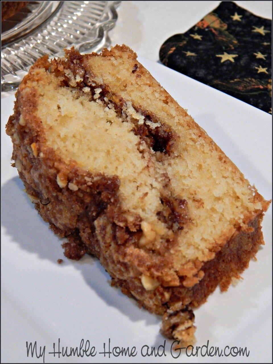 Sour Cream Coffee Cake My Humble Home And Garden Sour Cream Coffee Cake Coffee Cake Recipes Easy Coffee Cake Recipes