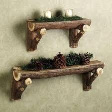Resultado de imagen para troncos de madera decorados para navidad