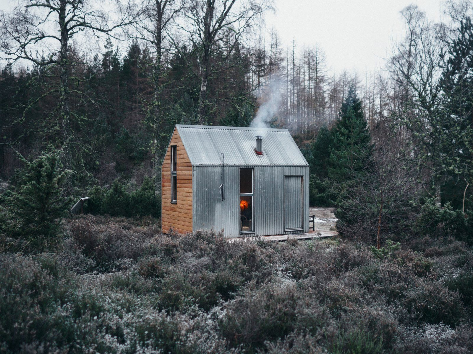Go Off Grid In This Prefabricated Cor Ten Steel Cabin In 2020