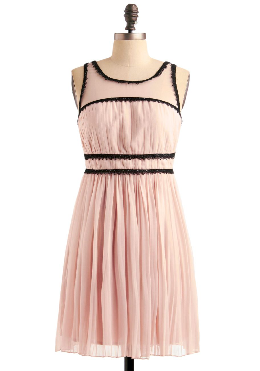 Dusk and Stunner Midi Skirt in Black   ModCloth, Pink dresses and ...