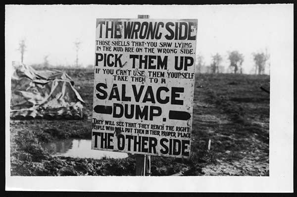 Wet weather cannot damp Tommy's sense of humour perhaps Close-up of a sign  posted in a camp. The sign reads, '… | World war one, Battle of  passchendaele, World war