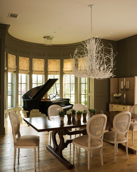 Beautiful Dining Rooms   Traditional Home  Love the piano alcoveBeautiful Dining Rooms   Traditional Home  Love the piano alcove  . Piano Dining Room Table. Home Design Ideas