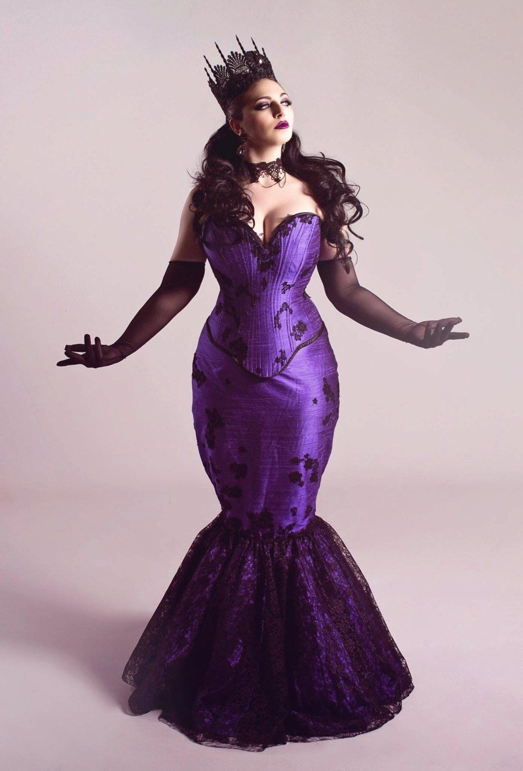 Gothic Purple Wedding Dress Fit And Flare Mermaid Masquerade Etsy Purple Wedding Dress Fit And Flare Wedding Dress Alternative Wedding Gown [ 1500 x 1018 Pixel ]