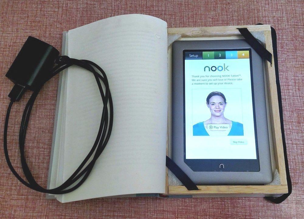 Barnes Noble Nook Tablet Bntv250 16gb 7 Silver Ooak Book Case