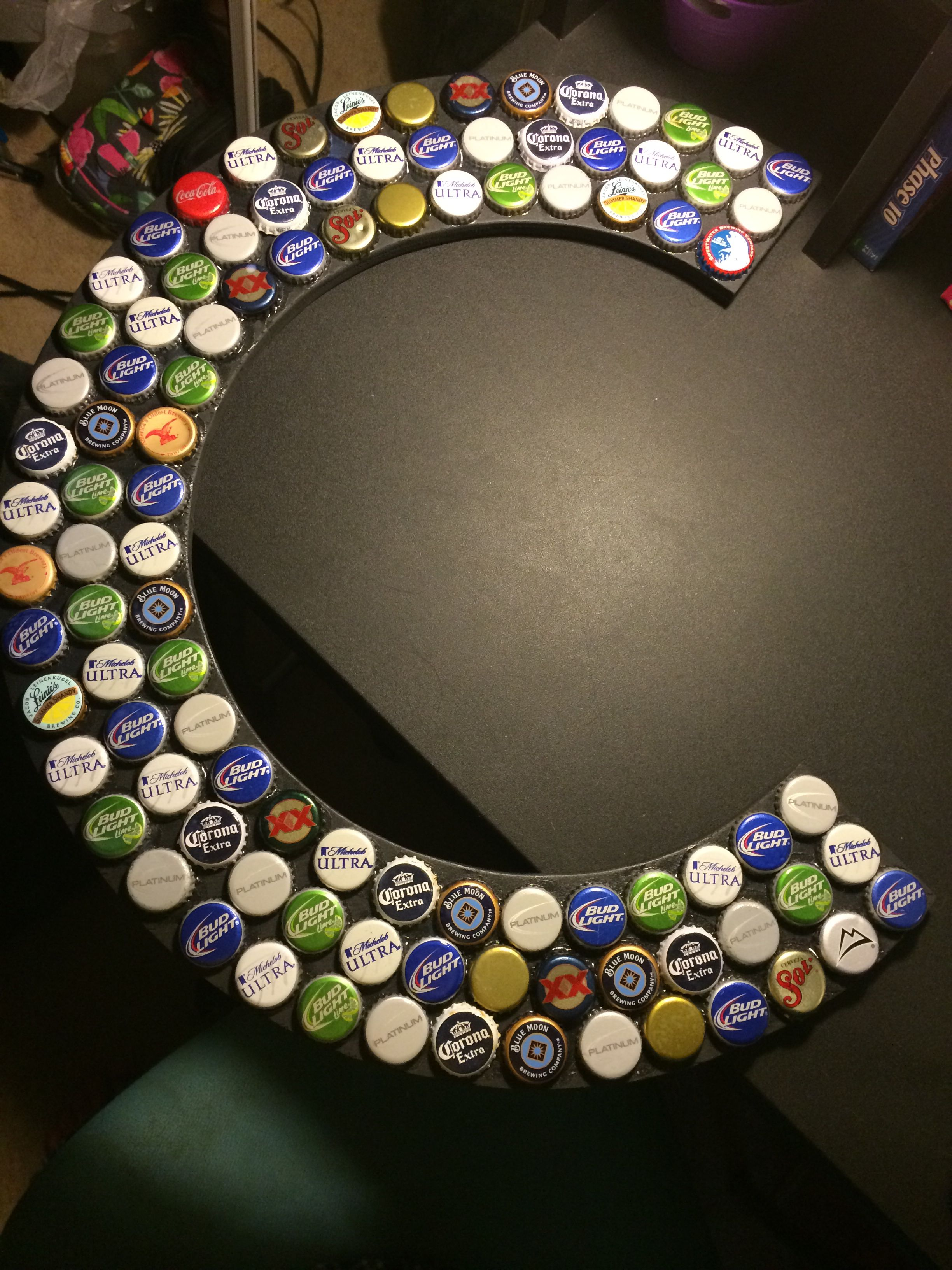 I collected a bunch of beer bottle caps and after i got a for What can i make with beer bottle caps