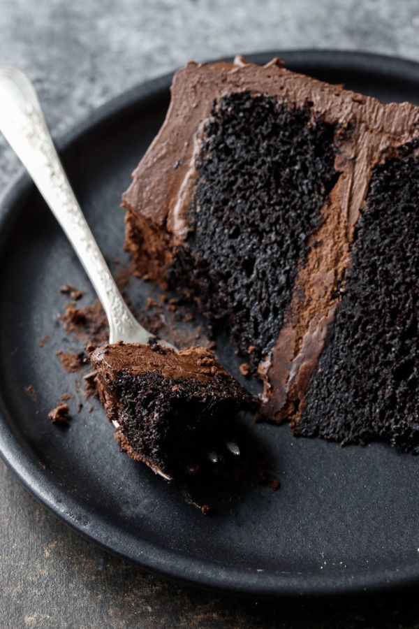 Ultimate Chocolate Cake with Fudge Frosting #chocolatecake