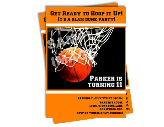 basketball invitation sports invitation all star party printable