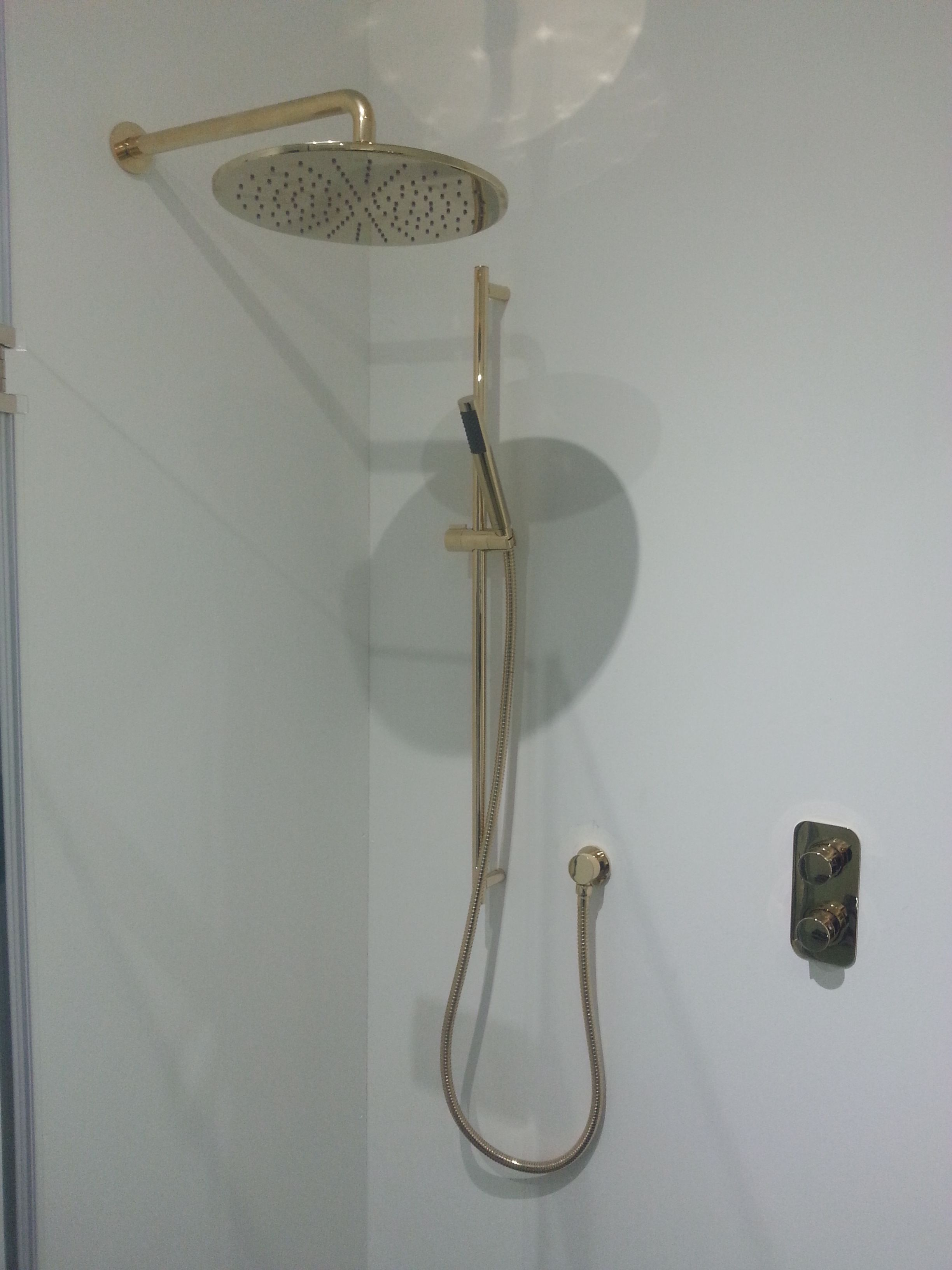 Individual display at T Pattons featuring 300mm round shower head ...