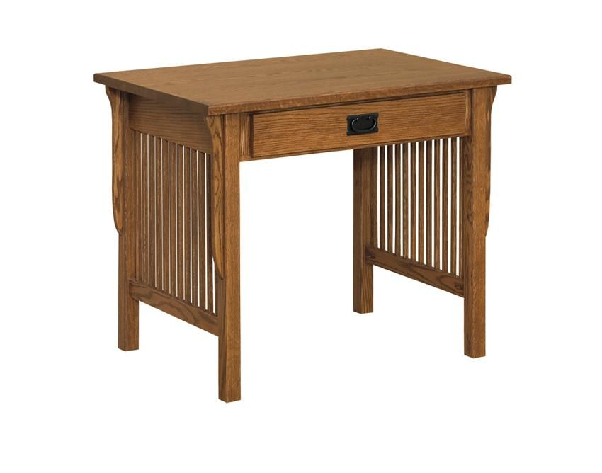 Amish Small Arts And Crafts Computer Desk Simple Mission Style Makes This Solid Wood A Clic Look For Any Room