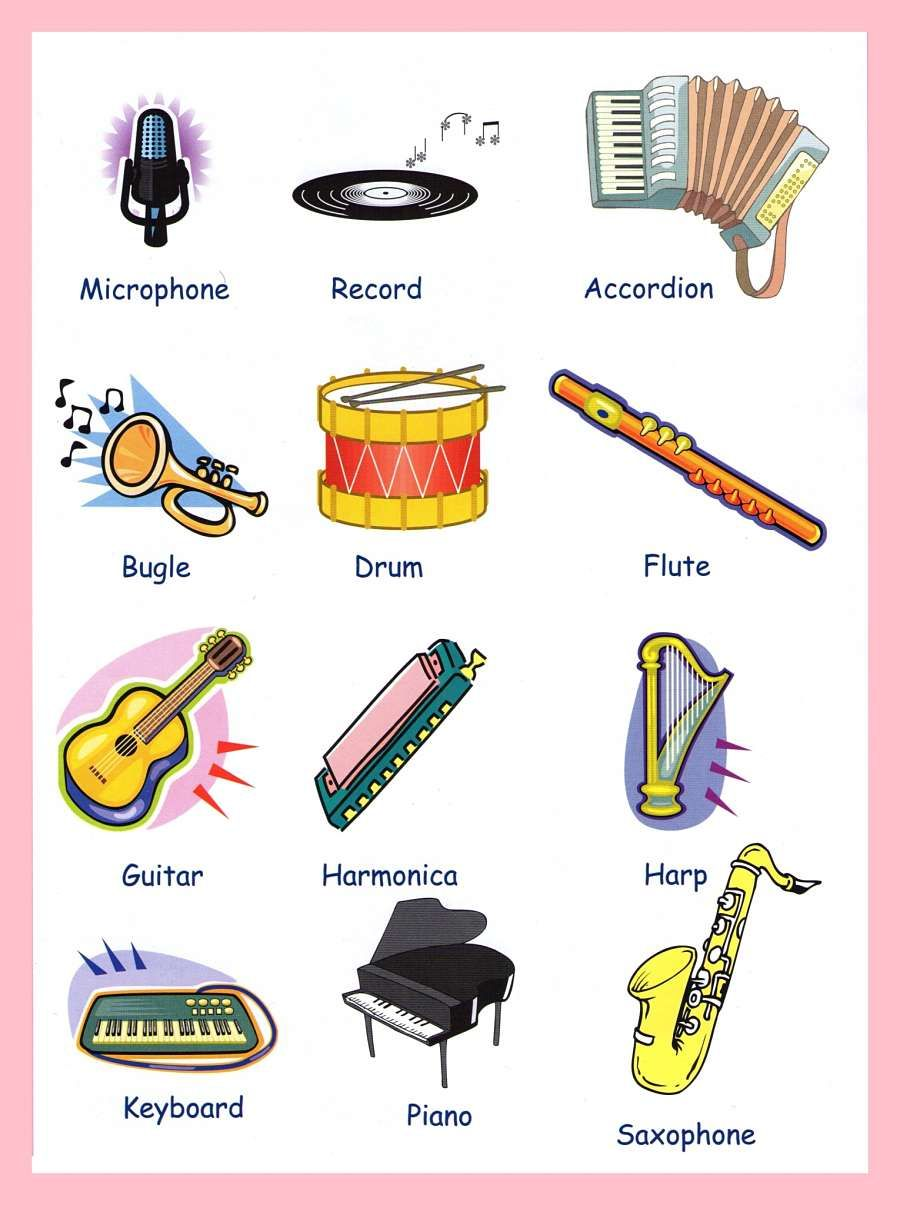 Children With Musical Instruments Google Search English Vocabulary Learn English Learning Italian