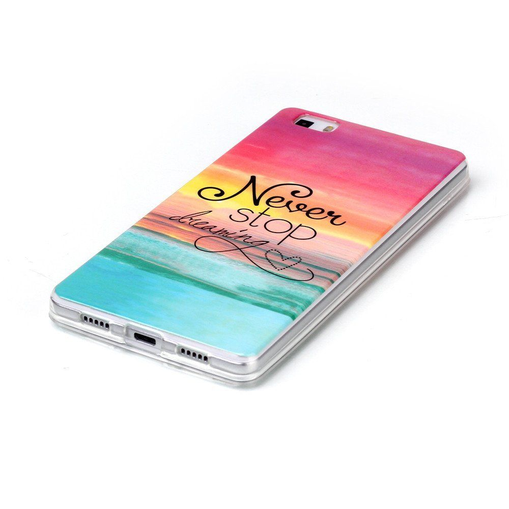 Amazon Com Huawei P8 Lite Case Style Hybrid Fancy Colorful