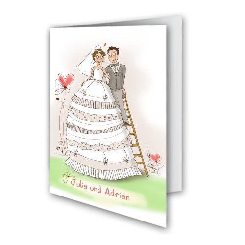 Hochzeitskarten - Kleid Leiter