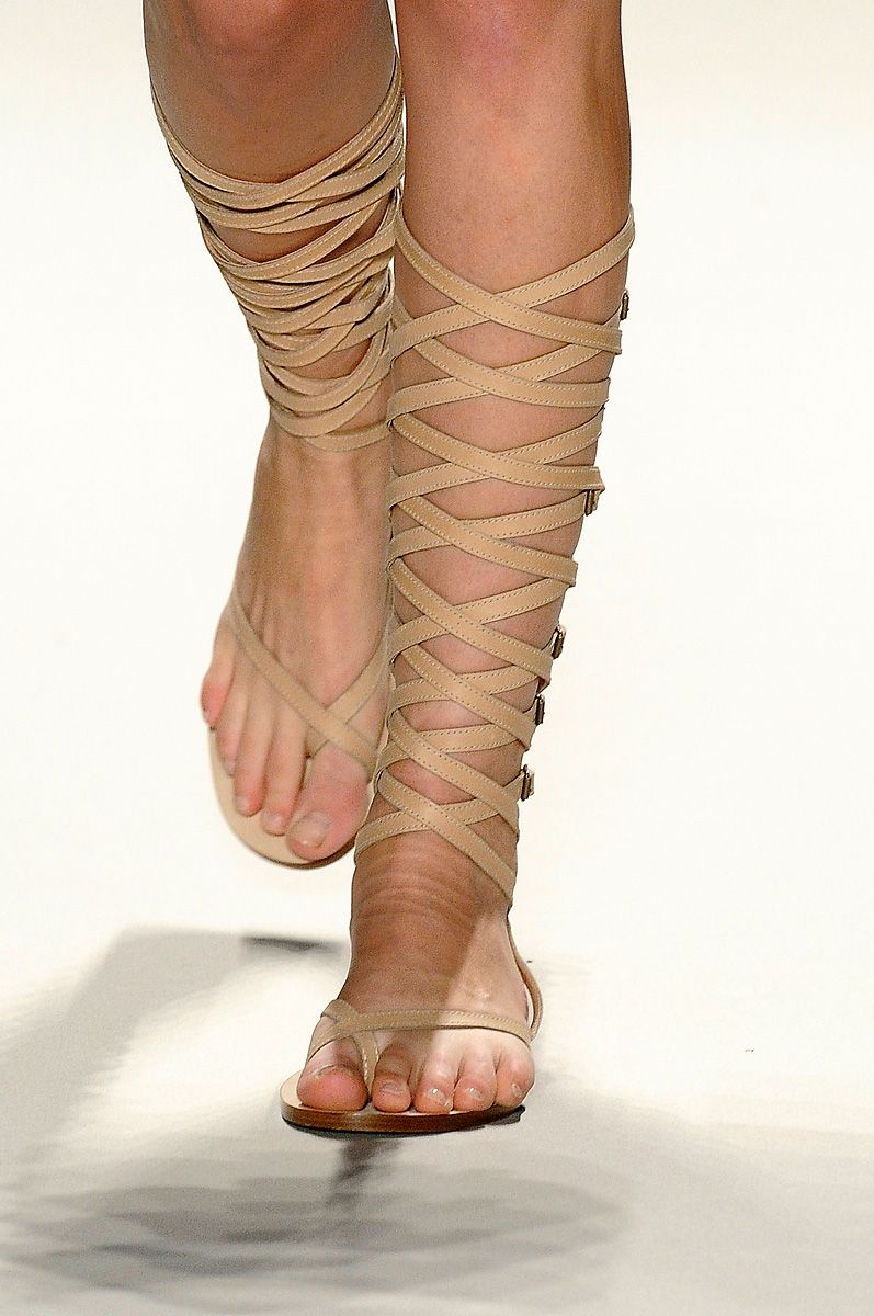 Gold lace up gladiator sandals - Shop the latest Fashion Trends ...