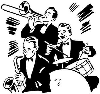 big band era clip art big band dance hits wedding theme 1940 s rh pinterest com music band clipart free rock band clipart black and white
