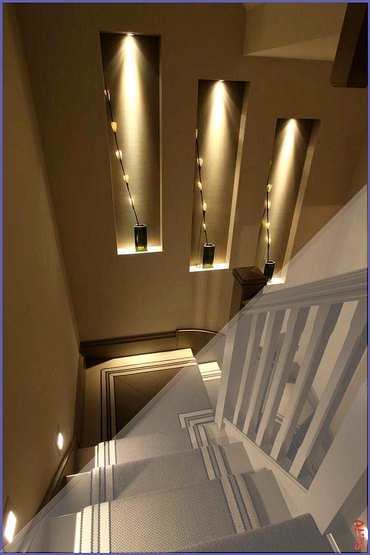 Walls Decorated With Stone And Indirect Lighting Walls Decorated With Stone And Indirect Treppenhaus Dekorieren Treppen Design Indirekte Beleuchtung