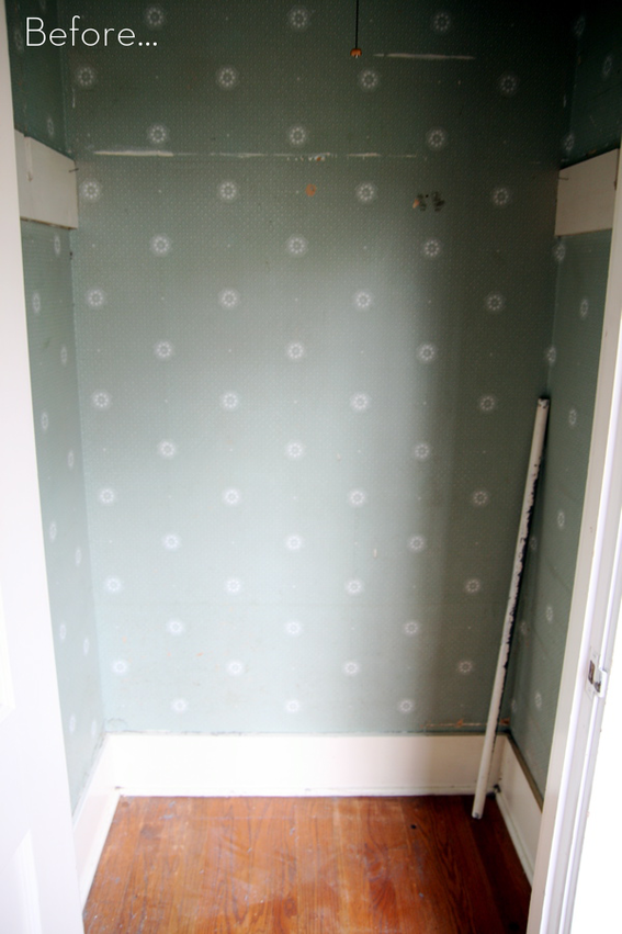 Before After A Tiny Closet Turned Bathroom Makeover With