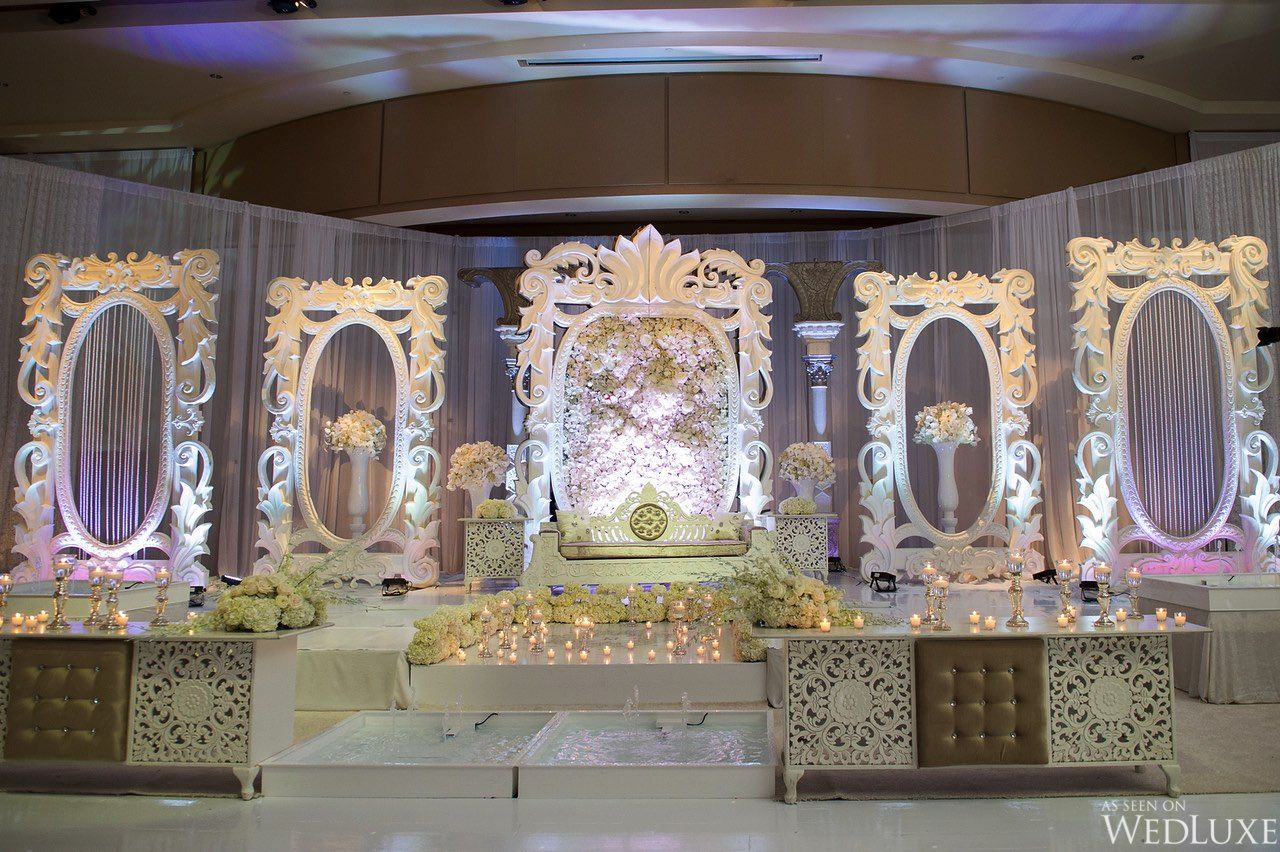 Day wedding stage decoration  A Spectacular TwoDay Indian Wedding  Weure thrilled to share Sonia
