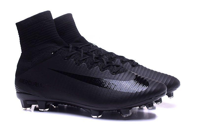 e977d5561 Soccer Nike Mercurial Superfly V FG Junior Soccer Cleat Black Black Black  https
