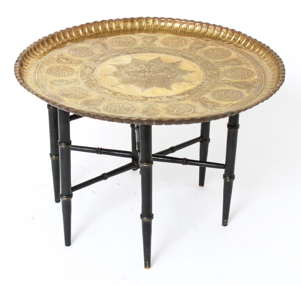 Turkish Round Brass Tray Charger Side Table Brass Tray Brass Round Table Brass Tray Table [ 946 x 1000 Pixel ]