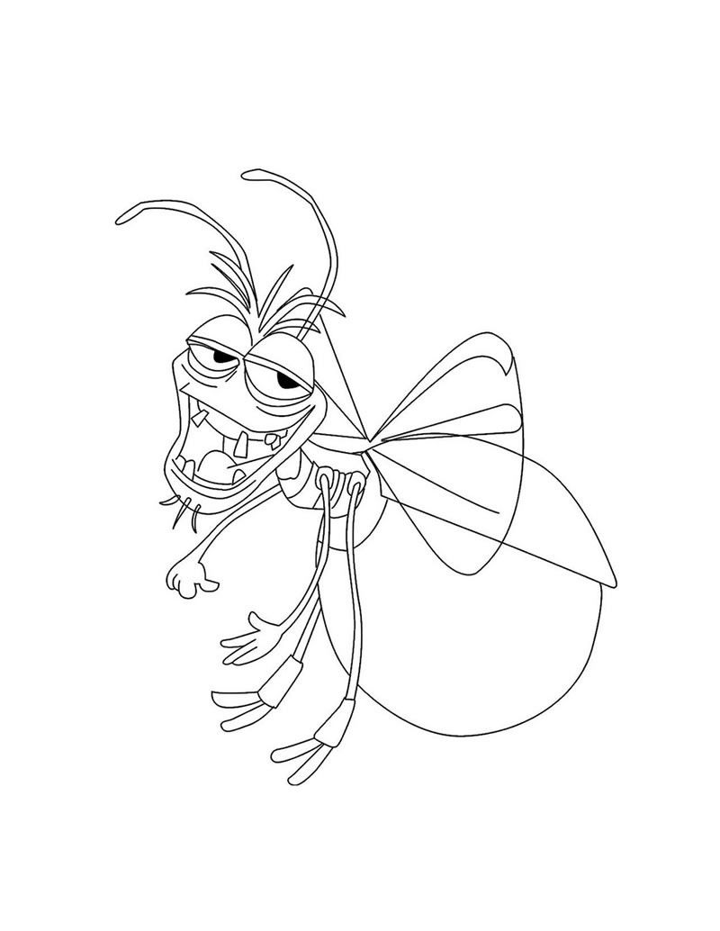 Coloring Page About The Princess And The Frog Drawing About Ray