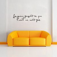 The Heart See What The Eye Doesn T French Quote Wall Decor Sticker