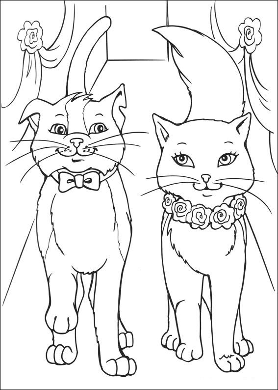 Barbie Princezna A Svadlenka23 Jpg 567 794 Cat Coloring Page Wedding Coloring Pages Princess Coloring Pages