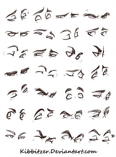 Eyes Reference Sheet By Kibbitzer In 2019 Eye Expressions