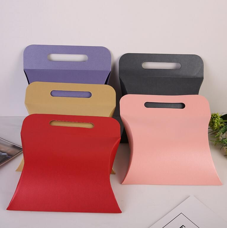 29196cm 20pcs Portable pillow gift cardboard paper box candy box gift box Gift Packaging Large Acc