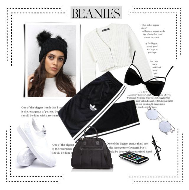 """""""*Pom Pom Beanies Contest* -Set#2"""" by sassy-elisa ❤ liked on Polyvore featuring Live the Process, Rare London, adidas, Boohoo, Sol & Selene and pompombeanies"""