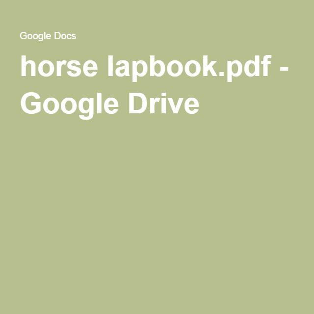 horse lapbook.pdf - Google Drive