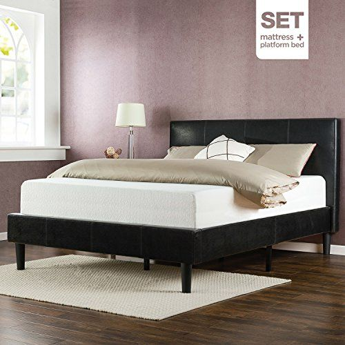 Sleep Master Memory Foam 12 Inch Mattress and Deluxe Faux Leather ...