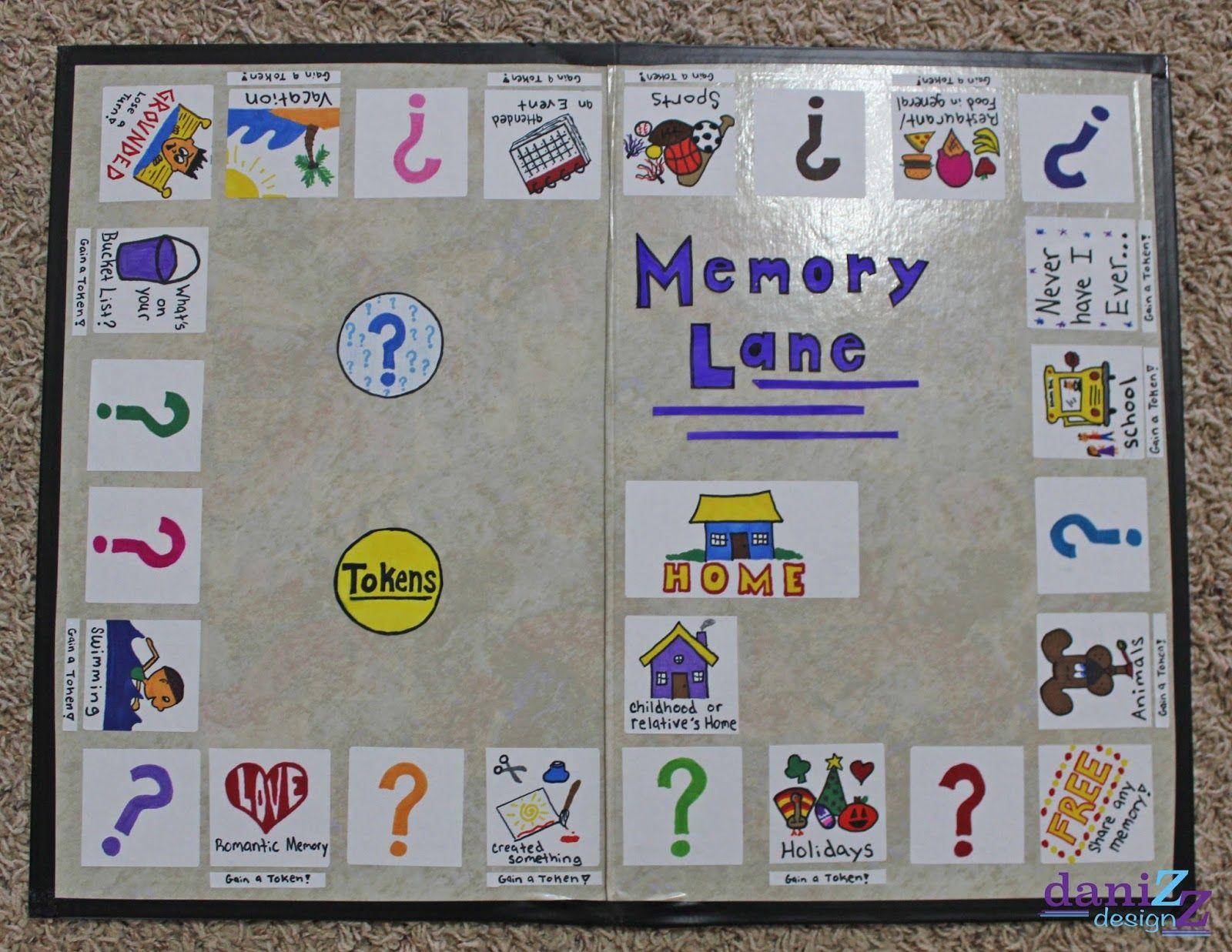 Memory Lane board game board that allows you to take a