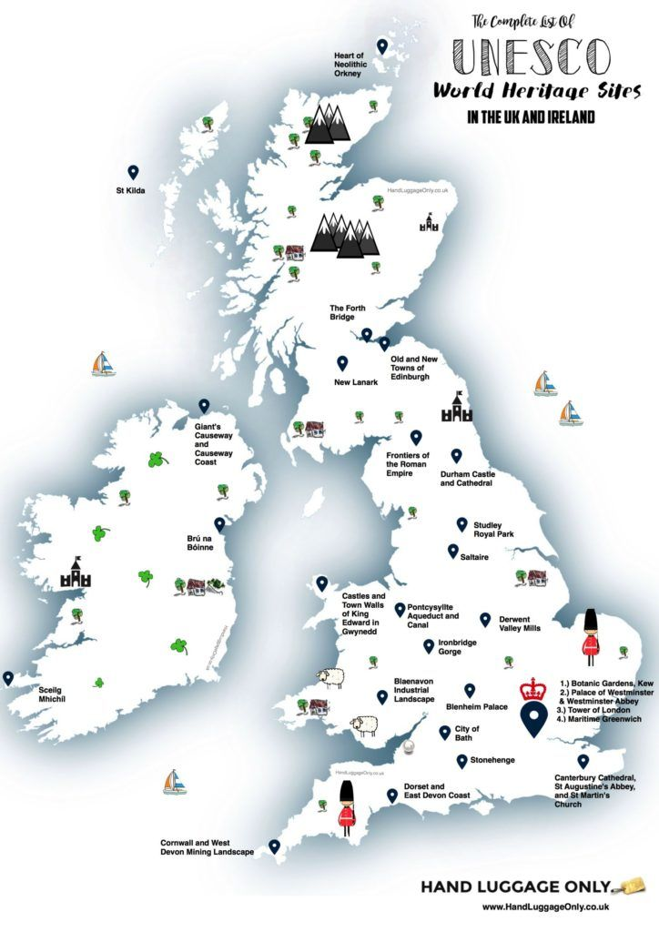 This map shows you where to find every unesco world heritage sites unesco world heritage sites in the uk and ireland gumiabroncs Image collections