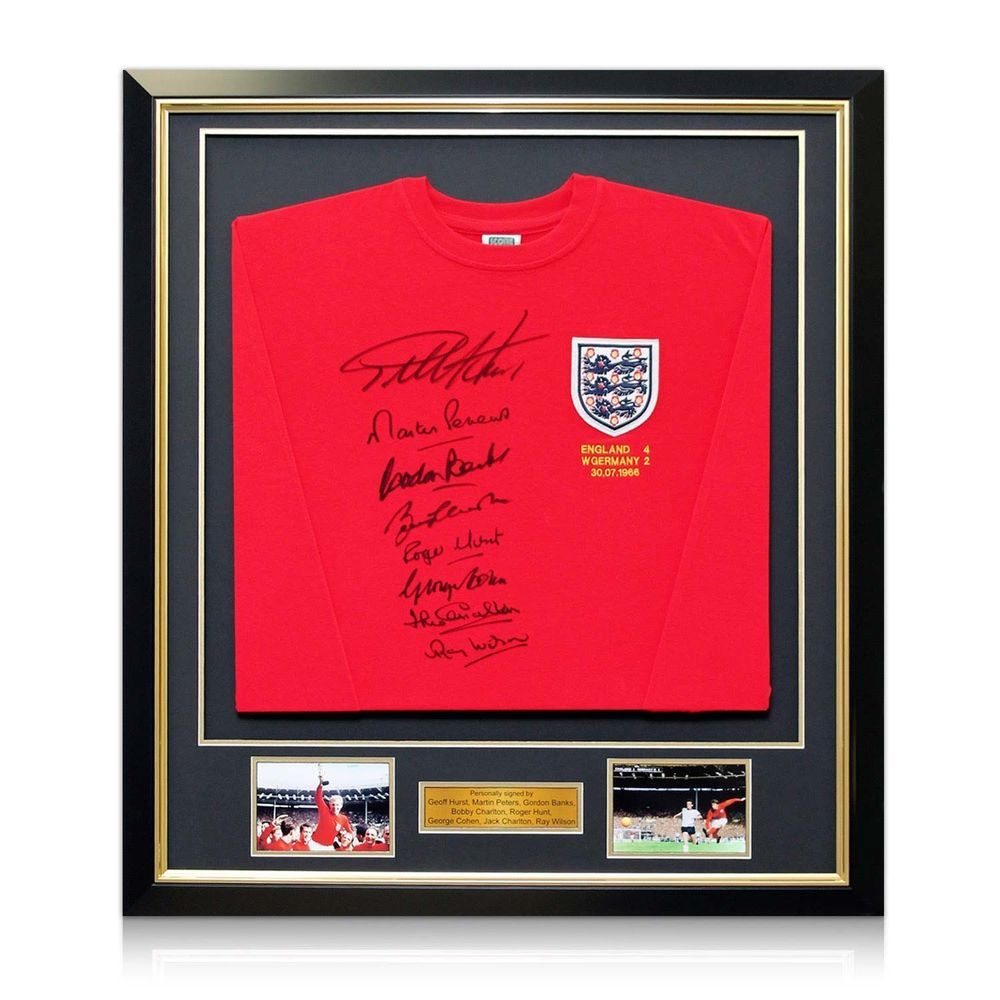 England World Cup Shirt Team Signed Red Football