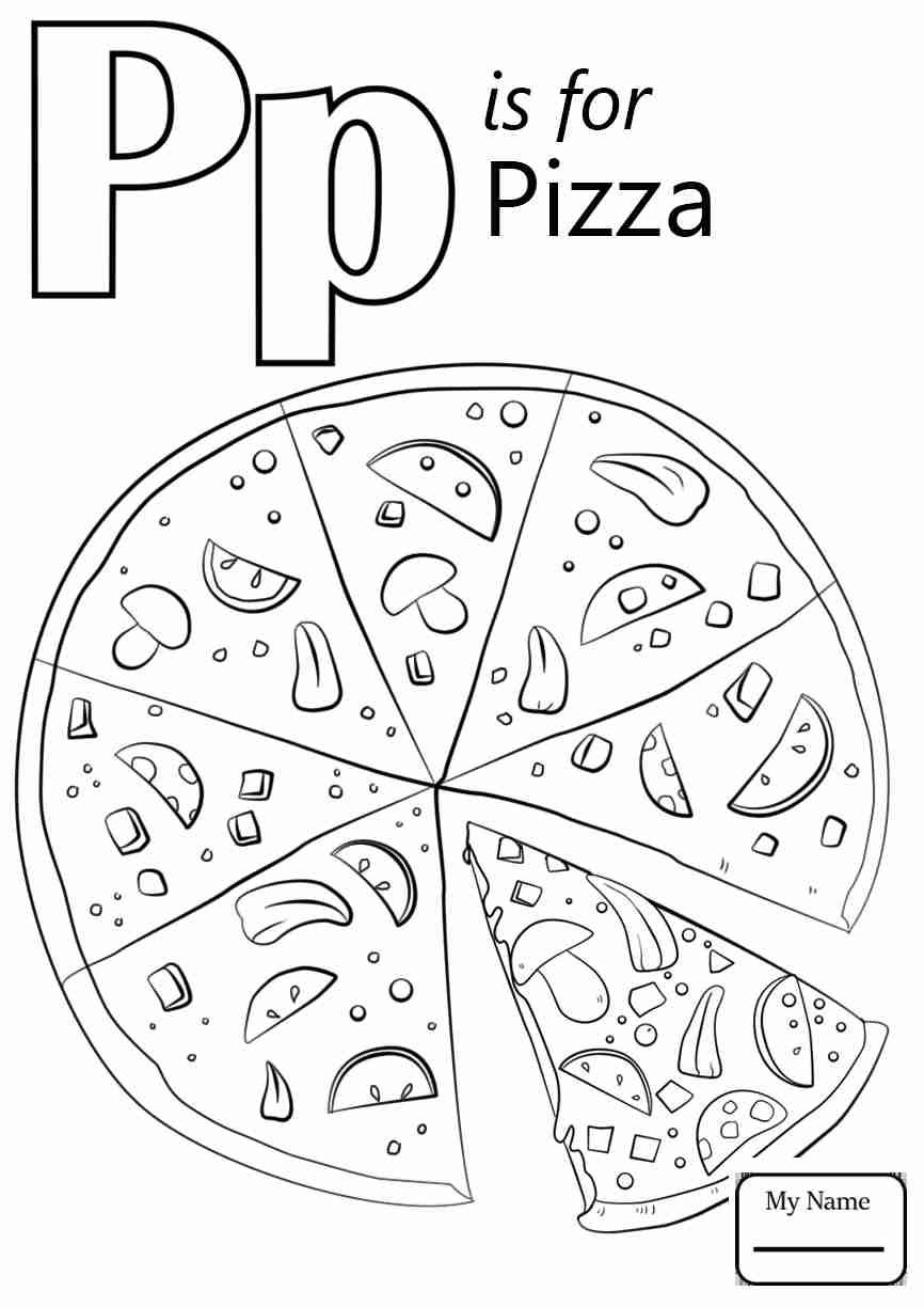 Lowercase Letter P Coloring Page For Kindergarten Free