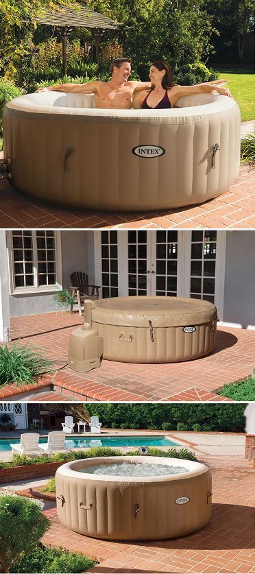 Awesome New Air Up Backyard Hot Tub Jucuzzi Patio Deck Spas Intex Pure Spa 4 Person Inflatable Portable Heated Bubble