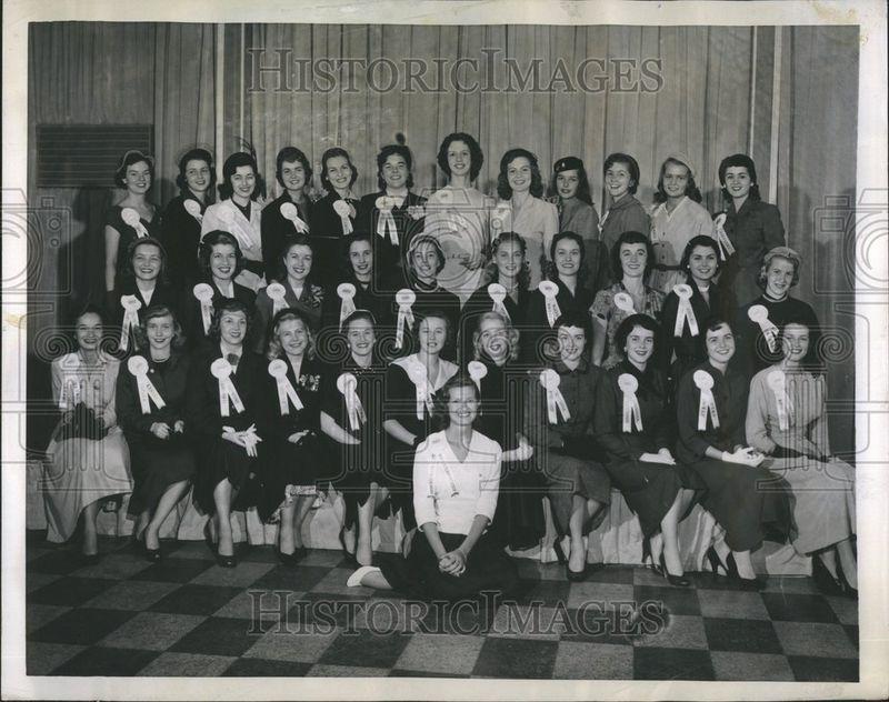 1952 Press Photo Miss America Entrants