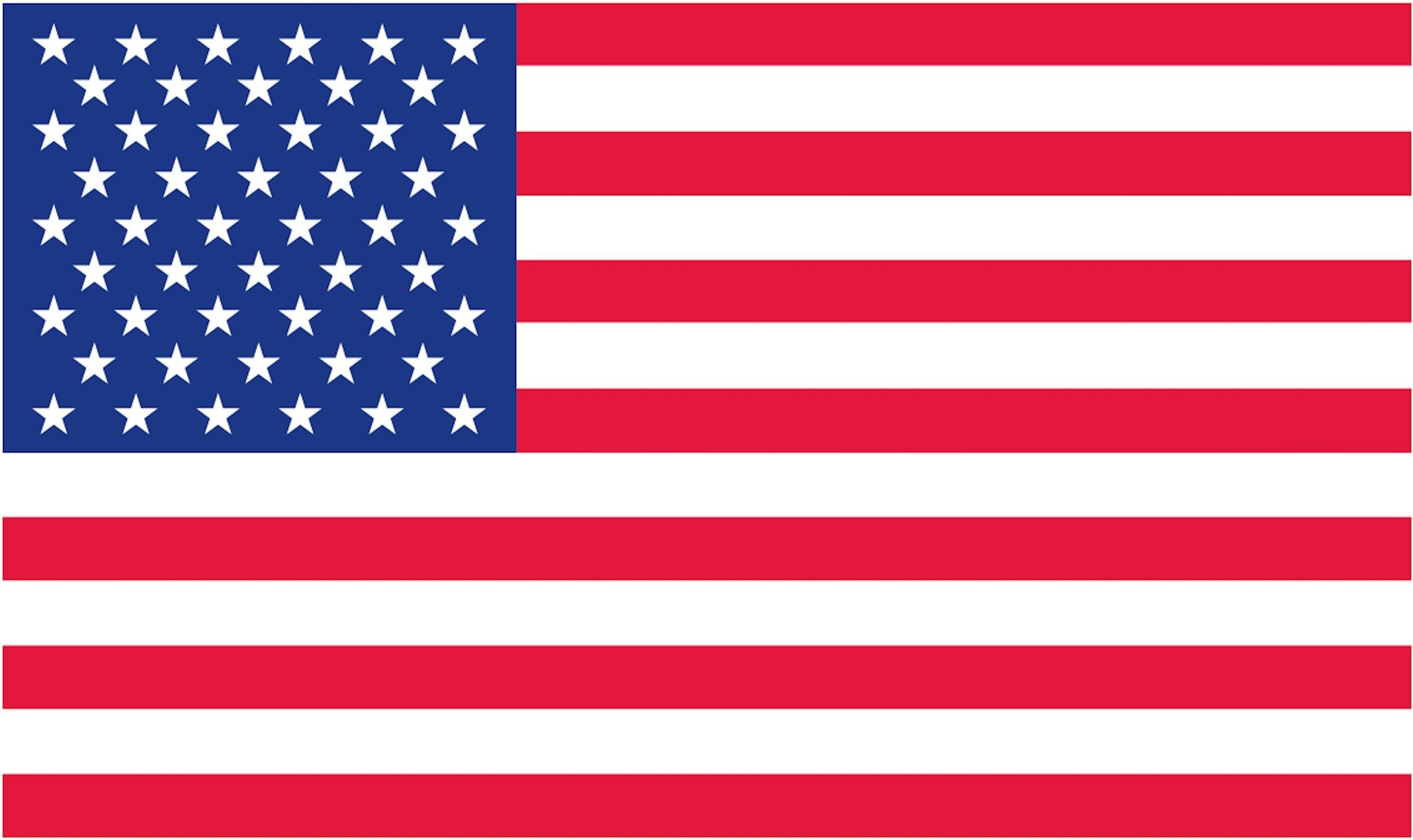 It is an image of United States Flag Printable in high resolution
