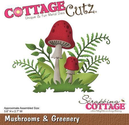 CottageCutz Mushrooms and Greenery Die