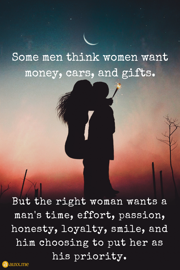 But the right woman wants a man s time 4e8295d05
