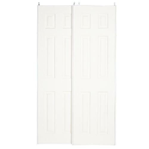 Colonial Elegance Fusion Plus 60 X 80 1 2 Framed Frosted Glass Sliding Door At Menards Colo Sliding Glass Door Sliding Closet Doors Sliding Doors Interior