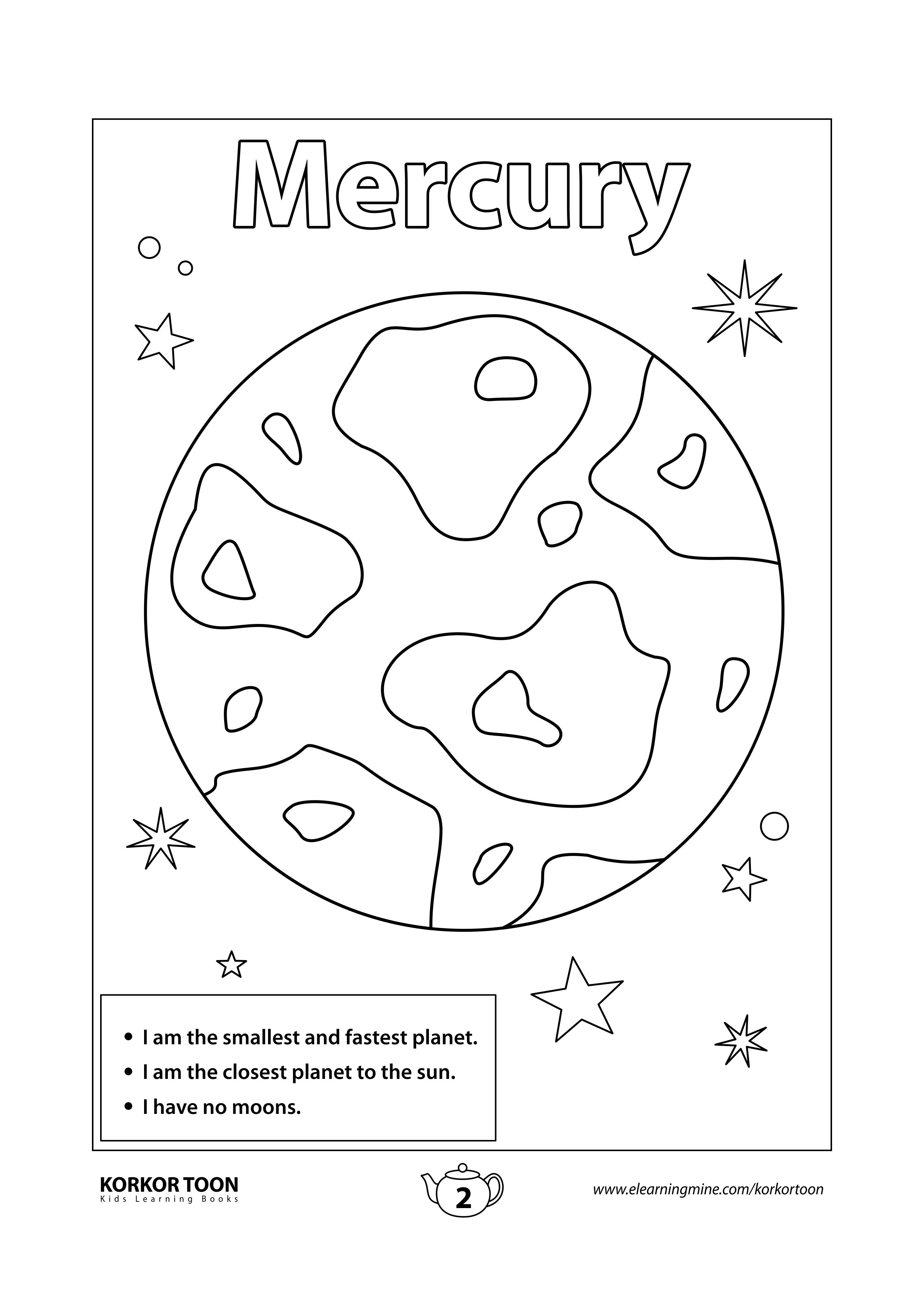 Solar System Coloring Book For Kids Mercury Page 2 Coloring Books Kids Coloring Books Coloring Pages For Kids [ 3508 x 2482 Pixel ]