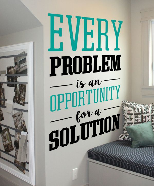 Creative Solution Wall Decal Office Wall Decor School Bathroom